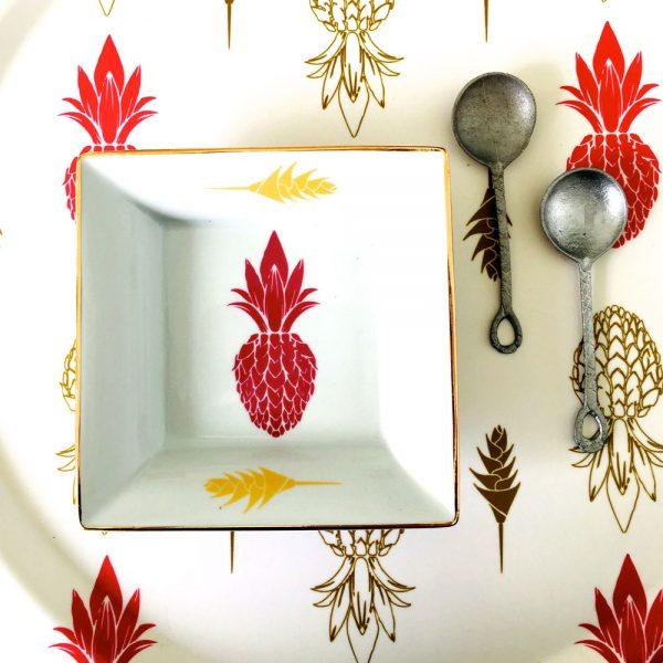 Vide poche ananas fuchsia