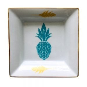Vide poche ananas turquoise