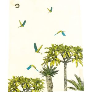 Torchon en lin parrot